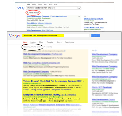 Google and Bing Search Engines